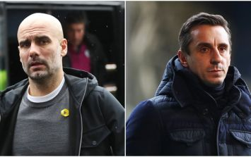 Gary Neville calls Pep Guardiola's controversial decision for Burnley game a 'joke'