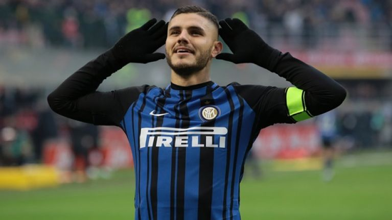 WATCH: Mauro Icardi cracks the crossbar from the kick-off