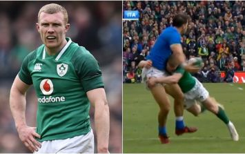 Conor Murray and Johnny Sexton's immediate reaction to Keith Earls' tackle says it all