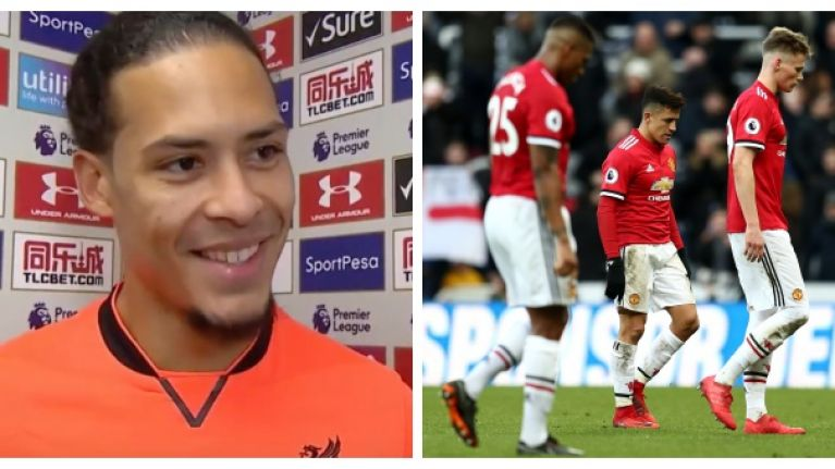 Virgil van Dijk's reaction to hearing Manchester United result will put a smile on Liverpool fans' faces
