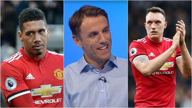 Phil Neville slates Smalling and Jones for doing what their manager tells them to do