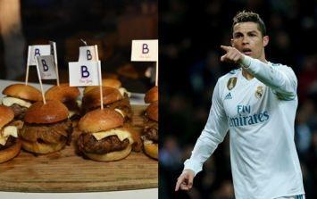 You can buy footballer themed burgers outside the Juventus stadium