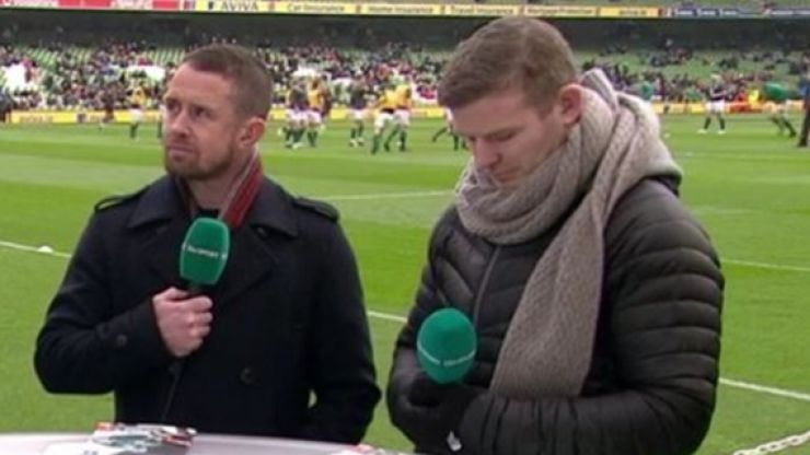 There was a comical height difference in the ITV's panel for Ireland v Wales