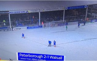 If you thought Oriel Park was snowy, wait until you see what Peterborough endured