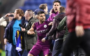 """A fan spat at Aguero"""