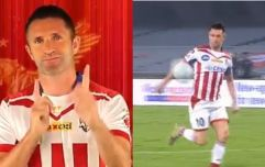 Robbie Keane scores delicious half volley in first game as player/manager