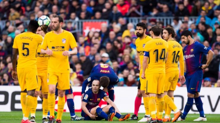 Barcelona midfielder Andres Iniesta a serious doubt for Champions League clash with Chelsea