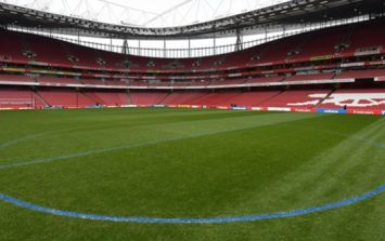 Arsenal fans aren't happy as ground staff paint pitch markings blue ahead of Manchester City visit