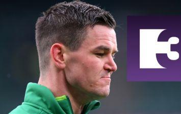 Irish fans watching Ireland v England on TV3 got an awful fright