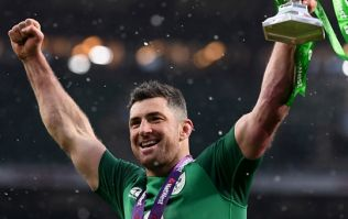 Rob Kearney's immediate reaction to Keith Earls ankle tap was pure experience