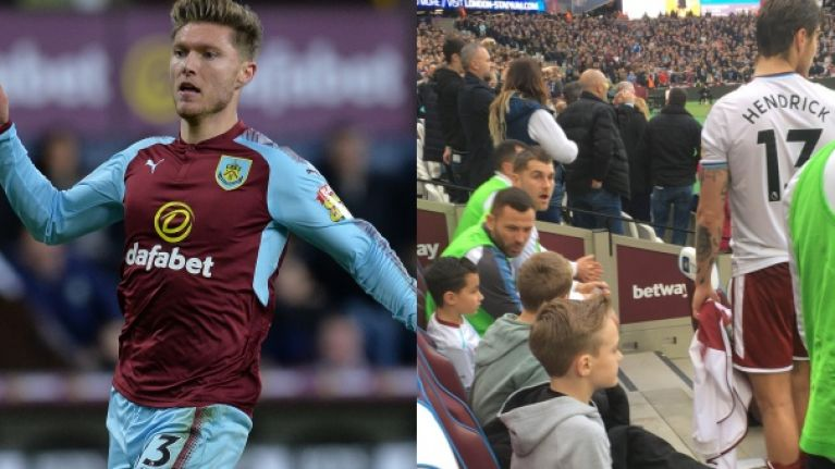 Jeff Hendrick praised for classy gesture to young West Ham fan during ugly London Stadium scenes