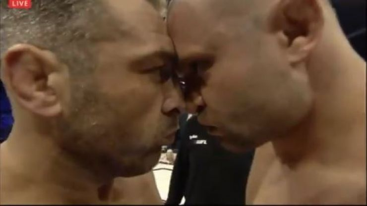 One of the most awkward staredowns in combat sports history