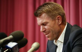 An emotional David Warner apologises for his role in the ball-tampering scandal