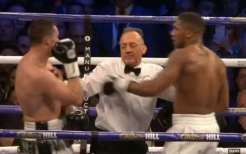 The referee annoyed everyone during Anthony Joshua's victory over Joseph Parker