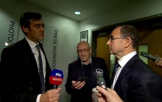 Martin O'Neill questions Sky Sports reporter after Declan Rice story