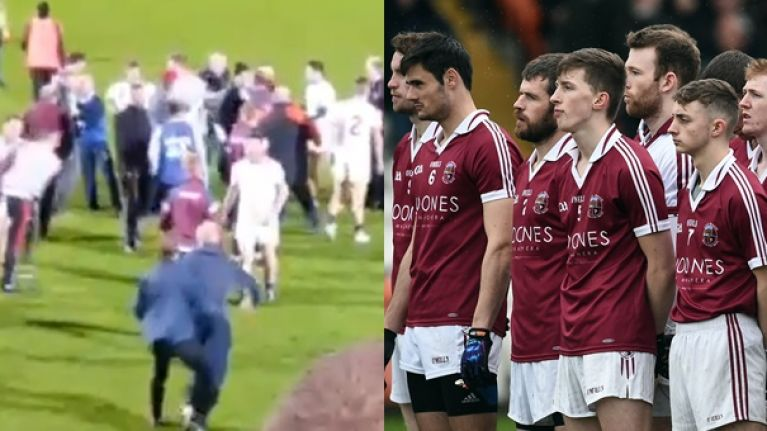 Unsavoury scenes after Slaughtneil knocked out