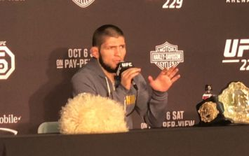 Khabib Nurmagomedov slams McGregor's actions after being asked about jumping cage