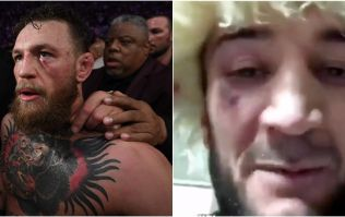 Khabib's cousin shares images of damage Conor McGregor inflicted