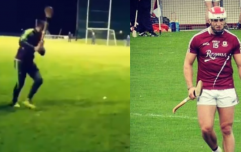 Damien Comer proves a dab hand at hurling with amazing sideline cut point