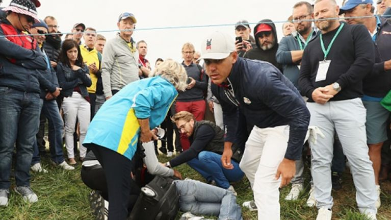 "Ryder Cup spectator ""loses eyesight"" after a wayward tee shot"