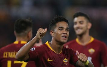 Justin Kluivert pays tribute to former teammate after scoring in Champions League tie