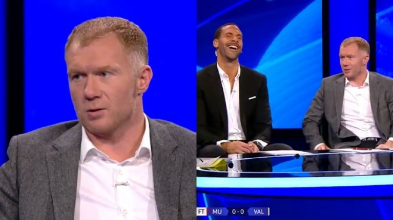 """""""We sit in the studio and end up watching other screens"""" - Paul Scholes' comment about Man United said it all"""