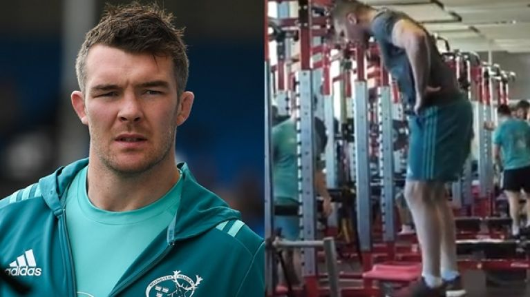Munster share video of Peter O'Mahony performing his renowned squat jump