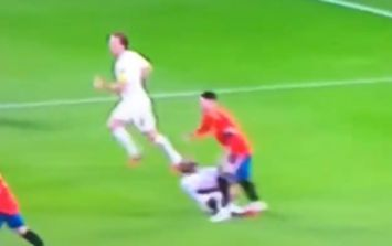 Sergio Ramos may have stamped on England winger Raheem Sterling