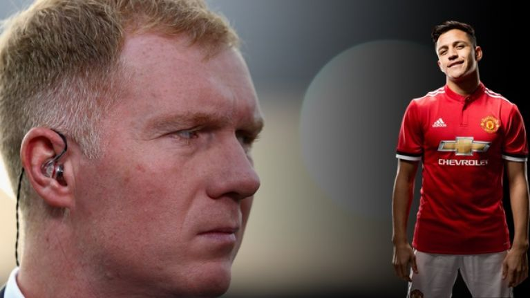 Paul Scholes offers interesting theory on real reason Man United signed Alexis Sanchez