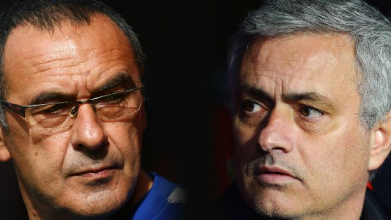 Sarri's comments on United vs. Chelsea leave Mourinho in a tough spot
