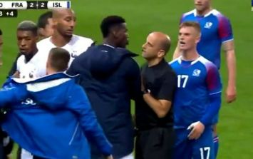 Paul Pogba loses it over late tackle on Kylian Mbappe