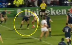 Johnny Sexton pulls off remarkable between the legs pass to assist James Lowe try