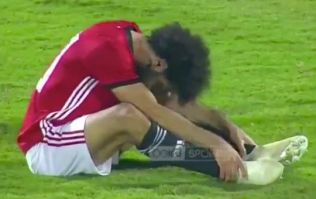 Mo Salah scores for Egypt directly from a corner but withdraws with injury