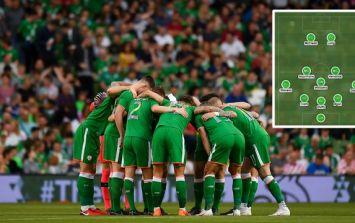 The Ireland team that should play against Denmark in Dublin