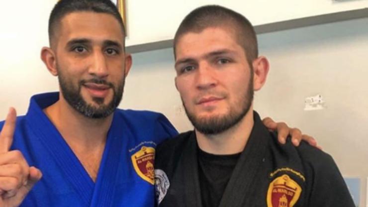 Khabib Nurmagomedov seen training in white belt as he begins Jiu-Jitsu training
