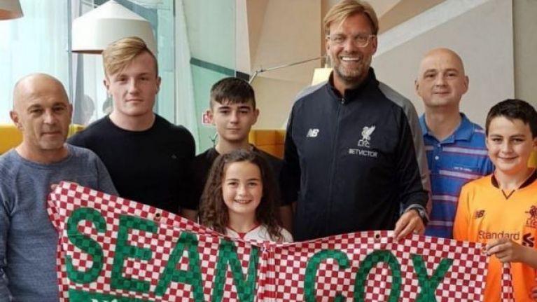 Jurgen Klopp makes sizable donation to Sean Cox fund