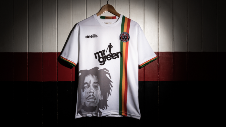 54ef5da0daf Bob Marley s son gives his seal of approval to  that  Bohemians FC shirt
