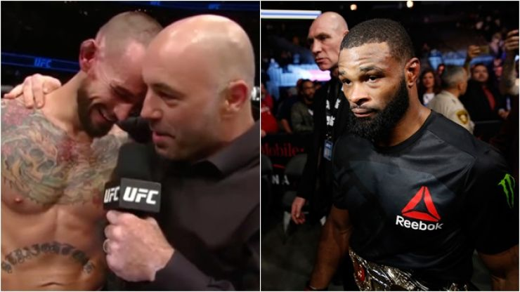 Tyron Woodley warns Joe Rogan to watch his mouth after CM Punk comments
