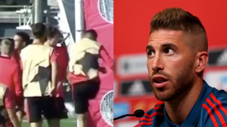 Sergio Ramos apologises for training ground bust-up with young teammate