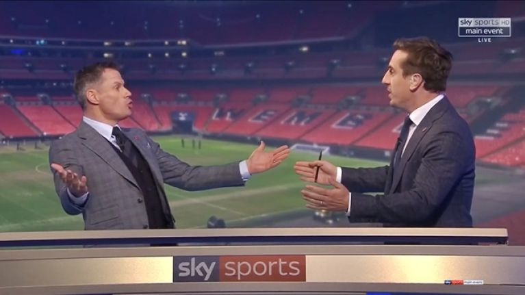 Jamie Carragher and Gary Neville had a heated but brilliant debate on Monday Night Football