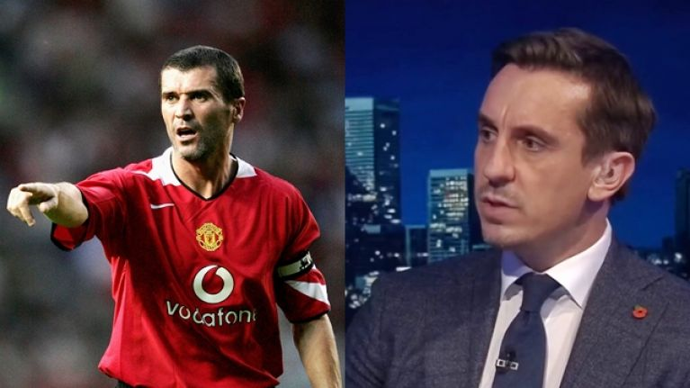 Gary Neville paid a stunning tribute to Roy Keane on Monday Night Football