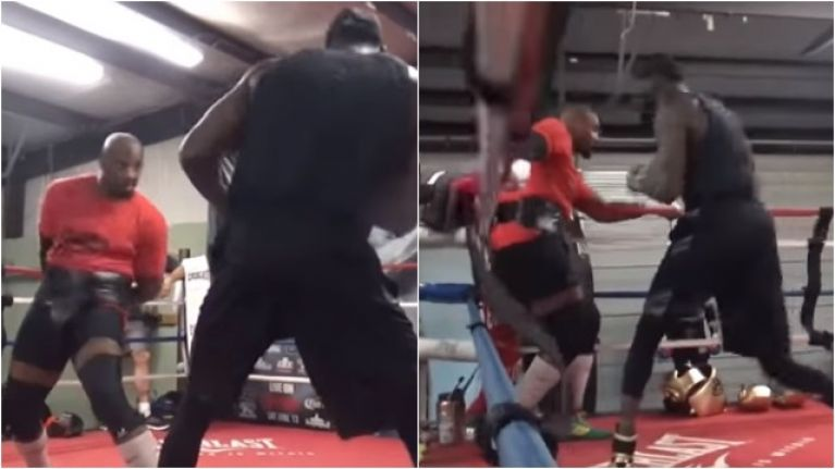 Deontay Wilder's training partner doing his utmost to mimic Tyson Fury in the ring