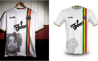 Bohemians forced to remove Bob Marley image from new away jersey