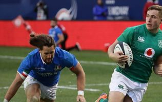 Jordan Larmour comes agonisignly close to breaking all-time record against Italy