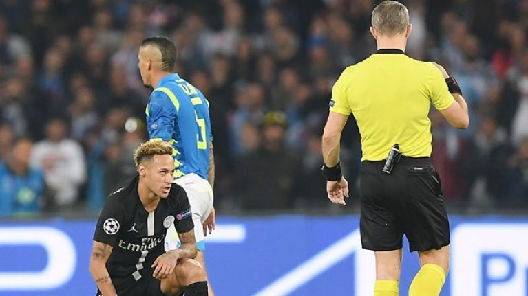 Neymar makes accusation against referee in charge of PSG's draw with Napoli