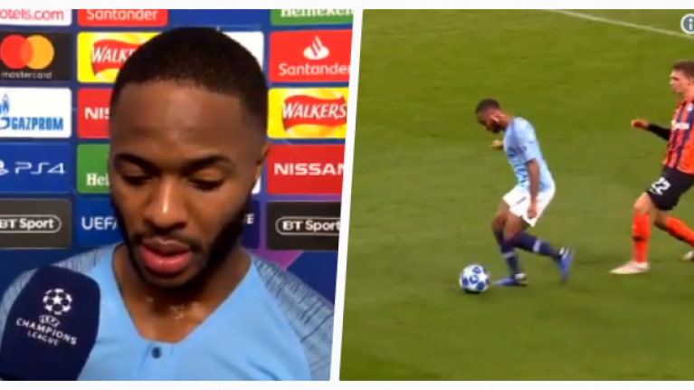 Raheem Sterling apologises after farcical penalty decision