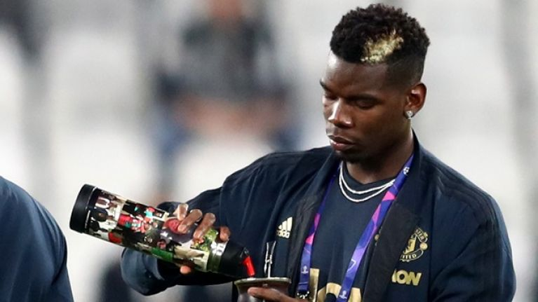 Paul Pogba flies home with executives and fans after drug test delay
