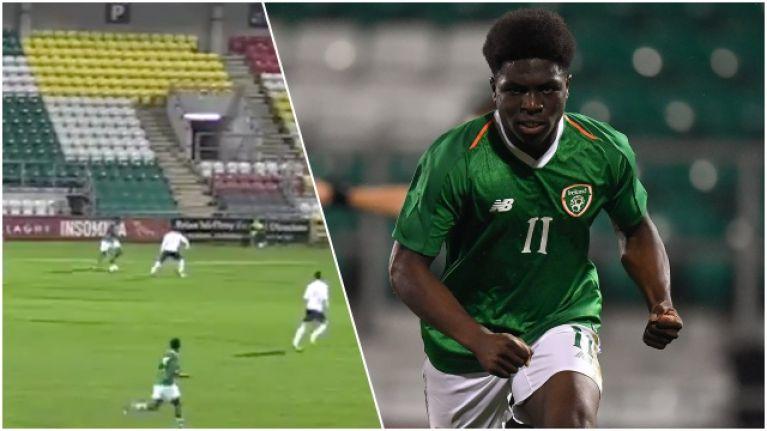 Festy Ebosele rinses English full back before burying penalty