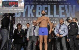 Tony Bellew shows off hard-earned abs and jokes about weight gain programme