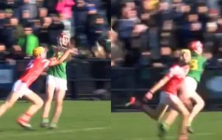 Minor loses his hurley but still blocks a lad with bare hands and gets hurley broken across him